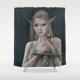 The Lady of the Lake Shower Curtain