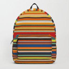 Modern Stripe Horizontal Simple Playful Kids Room Home Office Backpack