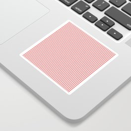 Thin Red Lines Vertical Sticker