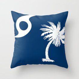 Hurricane Matthew South Carolina Flag Throw Pillow