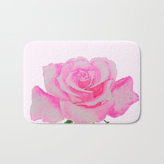 one pink rose Bath Mat