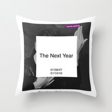 Bowie : The New Year Throw Pillow