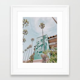 beverly hills / los angeles, california Framed Art Print