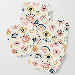 Mystic Eyes – Primary Palette Coaster