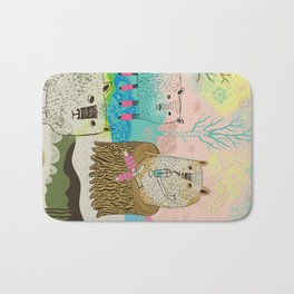 Sheep chillaxing Bath Mat