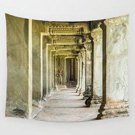 Angkor Wat Leading Lines II, Cambodia Wall Tapestry