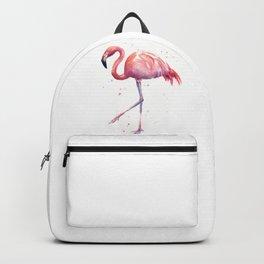 Flamingo Watercolor Pink Bird Backpack