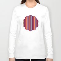 stripe Long Sleeve T-shirts featuring Stripe Marly by Shelly Bremmer