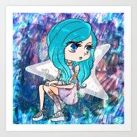 Cute Mermaid Fashion Art Print
