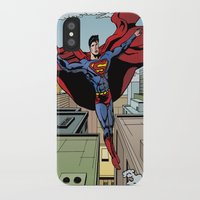 superman iPhone & iPod Cases featuring Superman by Joseph  Griffin Art