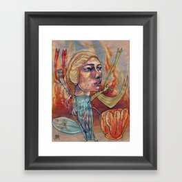DRAGON MAMA Framed Art Print
