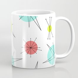 Atomic Age Colorful Planets Coffee Mug