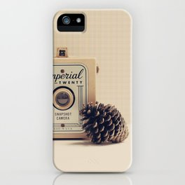Retro Camera and Pine Cone iPhone Case