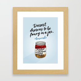 Mason Jar No.2 Framed Art Print