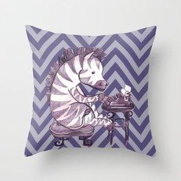 Typin' Stripes Throw Pillow