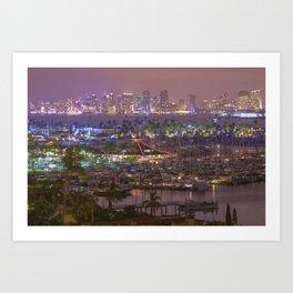 San Diego Skyline seen from Point Loma Art Print