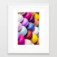 macaron Framed Art Prints featuring Macaron by Electric Avenue