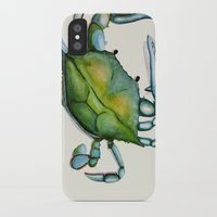 crab iPhone & iPod Cases featuring Crab by Dylan Morang