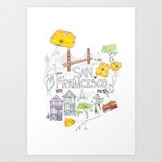 Friends + Neighbors : San Francisco Art Print
