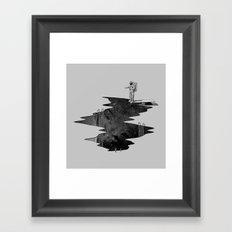 Space Diving Framed Art Print