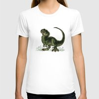 trex T-shirts featuring Baby T-Rex by River Dragon Art