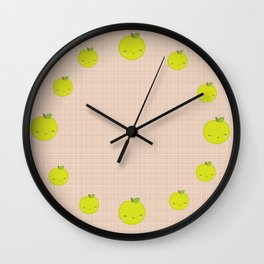 Mademoiselle Pomme Wall Clock