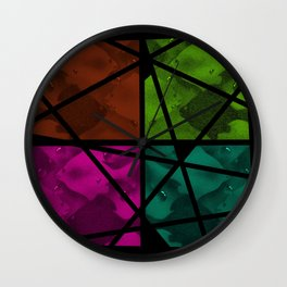 PIECES OF FISH Wall Clock
