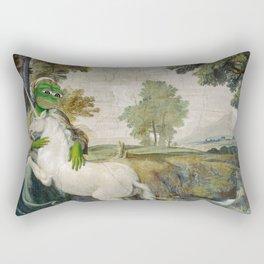 Medieval Pepe The Frog Domenichino Unicorn Pal Farnese Rare Pepe Rectangular Pillow