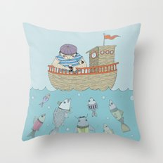 At The Sea Throw Pillow