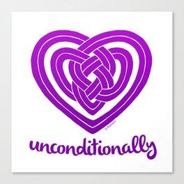 UNCONDITIONALLY in purple Canvas Print