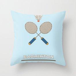 I am the sport! part2 badminton Throw Pillow