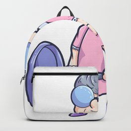 Gym Fitness Workout grandma woman's pension Backpack