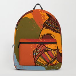 African woman portrait Backpack