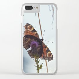 Mountain Butterfly Clear iPhone Case