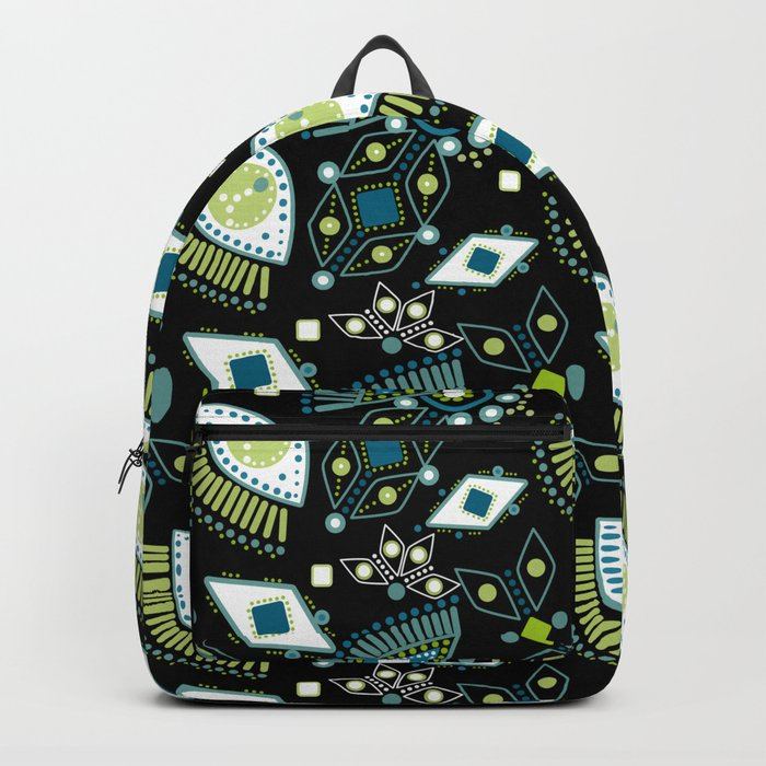 Ethnic pattern . Eyes . Backpack