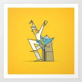 The Return of the Karate Kid Art Print