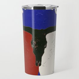 Texas State Flag Longhorn Antique Style Pattern Art Travel Mug