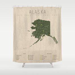 Alaska Parks Shower Curtain