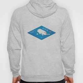 Isometric map of the USA - 3D Vector Illustration Hoody