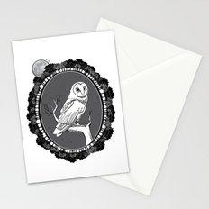 Night Owl Oval Stationery Cards