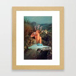 Sippin' On the Go Framed Art Print
