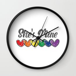 Gay Couple Gifts Matching LGBT She's Mine Gay Pride Gift Wall Clock