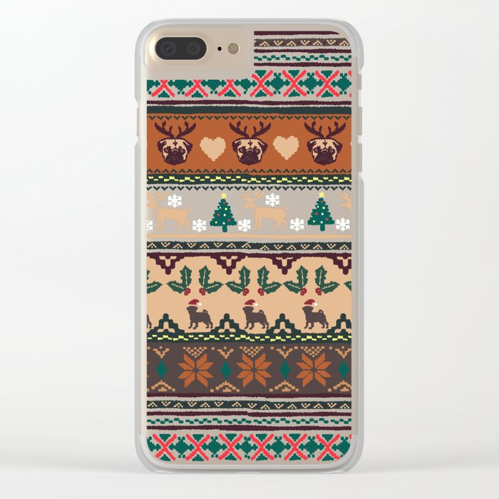 Christmas With You Clear iPhone Case