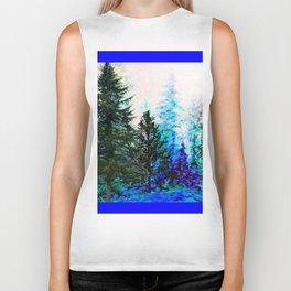 BLUE MOUNTAIN  PINE FOREST LANDSCAPE Biker Tank
