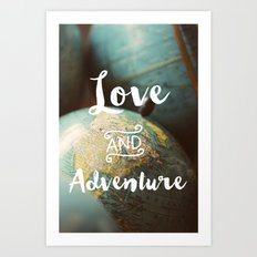 Love & Adventure Art Print