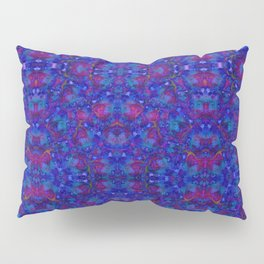"""""""NeonBlue Peace Rose"""" by surrealpete Pillow Sham"""