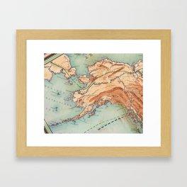 Old Alaskan Map Framed Art Print