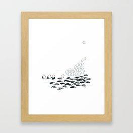 suit down Framed Art Print