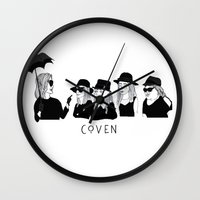 cactei Wall Clocks featuring AHS Coven by ☿ cactei ☿