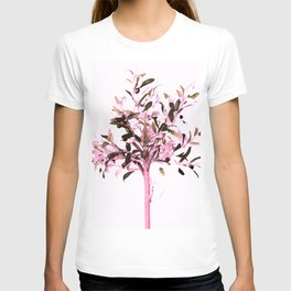 Little olive tree with pink tones on a white background T-shirt